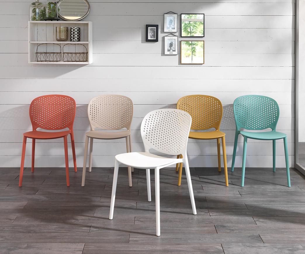 Sedie In Polipropilene Colorate.Sedia Spot In Polipropilene Beige Om 261 Be Duzzle