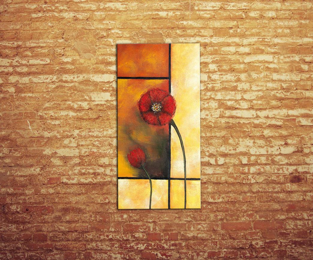 Quadro con fiori di Papavero | Duzzle