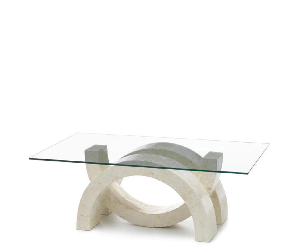 Tavolino da salotto olimpia in pietra bianca fs wa a duzzle