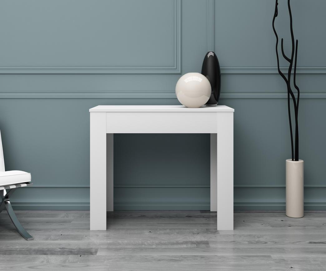 Tavolo consolle allungabile bianco lucido duzzle for Tavolo bianco lucido
