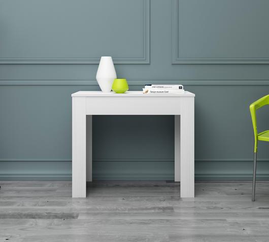 Duzzle tavolo consolle legno frassino design twist ambientata