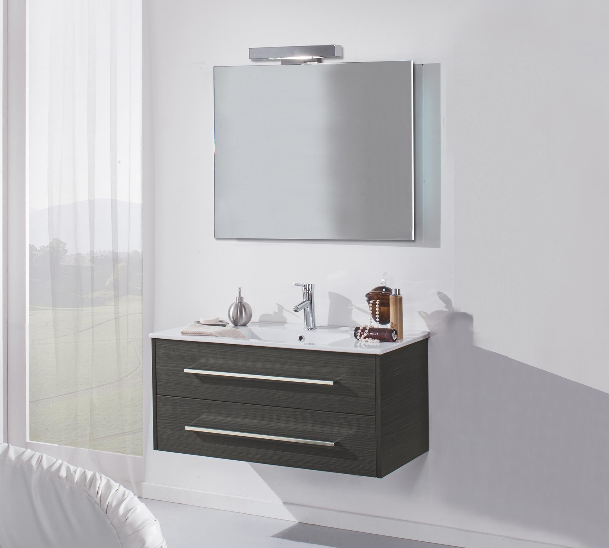Arredo bagno moderno color lava duzzle - Bagno moderno grigio ...