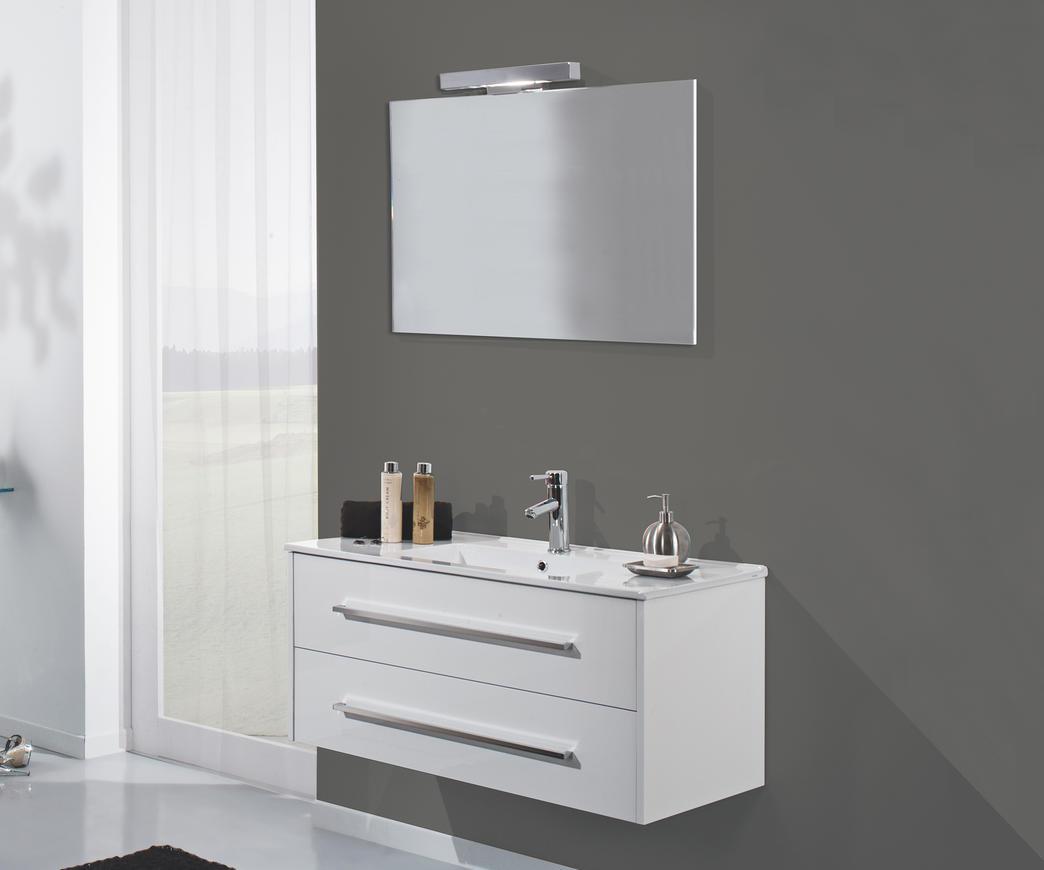 Arredo bagno moderno bianco duzzle for Maniglie mobili bagno