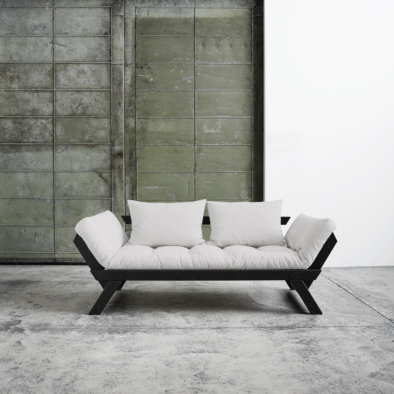 Divano letto bebop di karup tortora struttura nera duzzle - Struttura letto divano ...