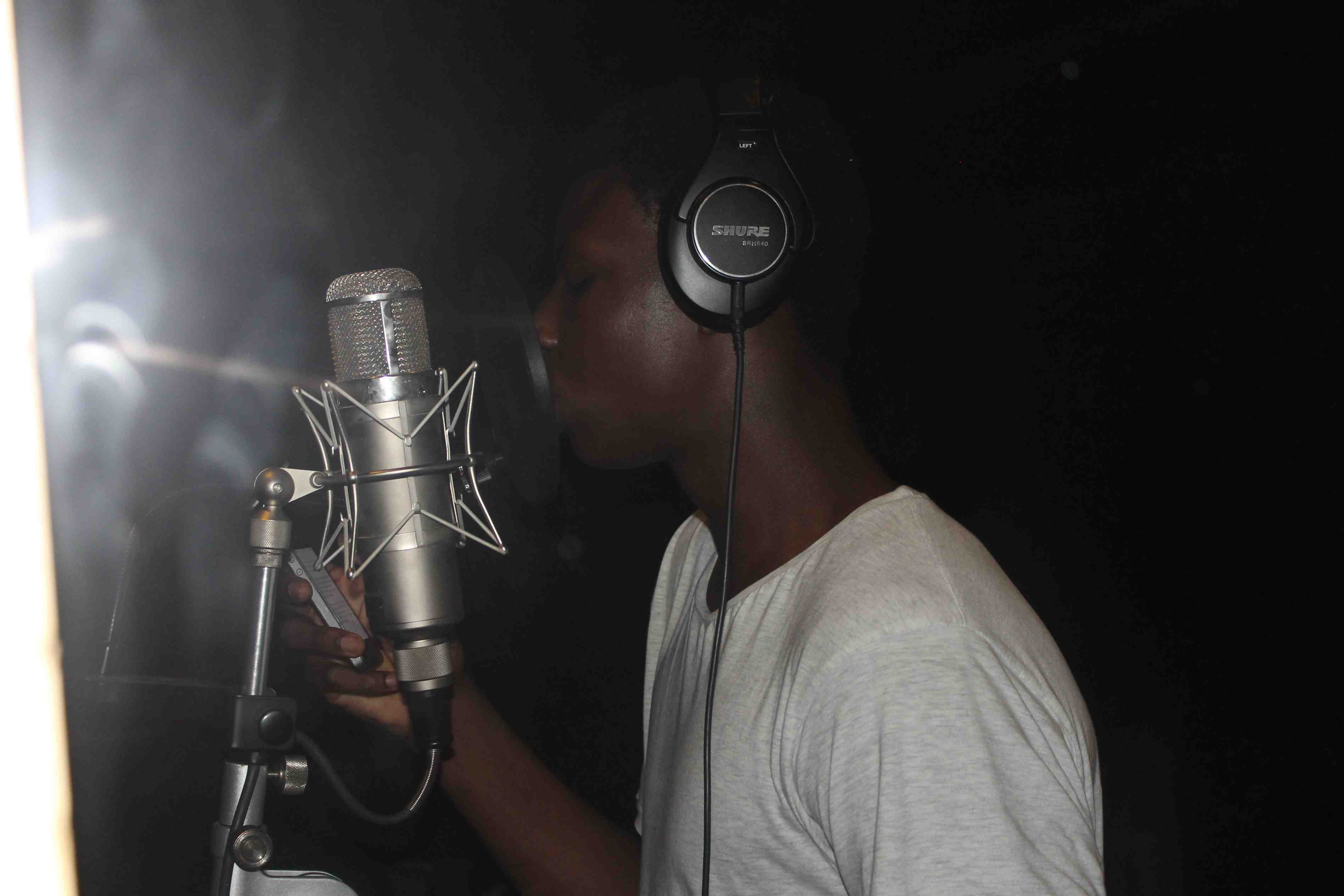 DV8 Student in Mic Booth 1
