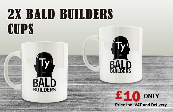 TY and Bald Builders Mug