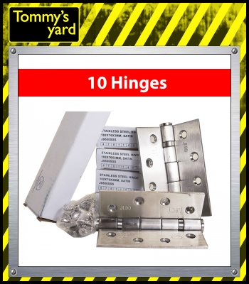 Frelan Jedo Collection Chrome Hinges 102mm x 76mm x 3mm x5 Packs of 2