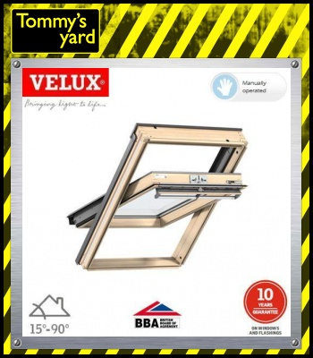 VELUX GGL MK06 3070 Pine Centre Pivot Window Laminated - 78cm x 118cm