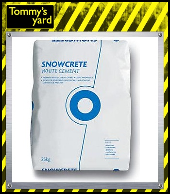 Blue Circle Snowcrete White Portland Cement 25kg