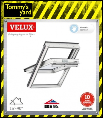 VELUX GGL FK06 2070 White Centre Pivot Window Laminated - 66cm x 118cm