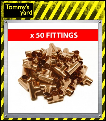 22mm Endfeed Equal Tee Fitting Price Per 50
