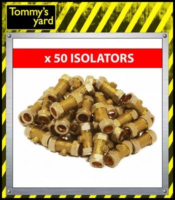 15mm Brass Isolation Valves Pack Of 50