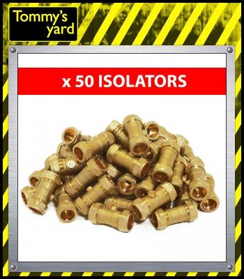 22mm Brass Isolation Valves Pack Of 50