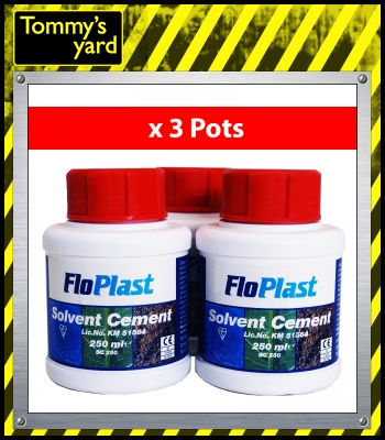 Floplast Solvent Cement 250ml x3