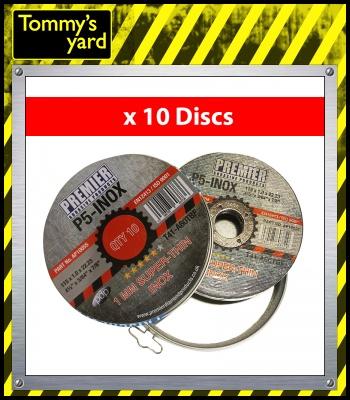 Premier P5-INOX 1mm Super Thin Cutting Discs x10