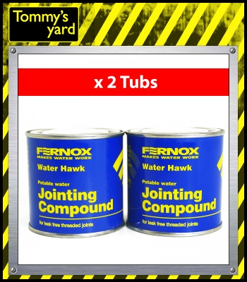 Fernox Water Hawk Jointing Compound x2 400g Tubs