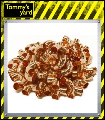 100 Pcs 22mm Endfeed 90 Degree Elbow Fitting