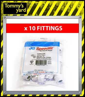 John Guest Speedfit Elbow 15mm Price Per 10