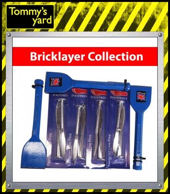 Footprint Collection x3 60mm Brick Bolser & x4 Packs of Brick Pins