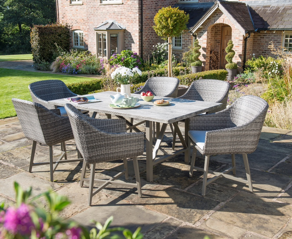Comfortable and hardwearing the lamode dining range from kettler is perfect for casual outdoor dining or the conservatory in store now
