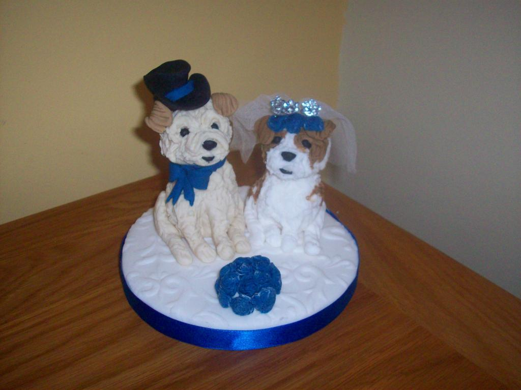 wedding cake topper with dog uk personalised and groom wedding cake toppers 26661