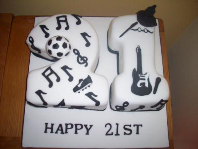 21st Football Harry Potter Music Cake