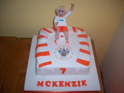 Blackpool FC Birthday Cake