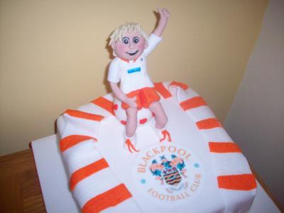 Blackpool Football Birthday Cake