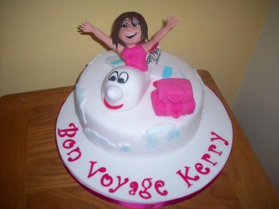Bon Voyage Plane Cake