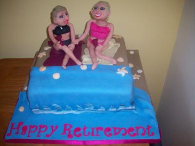 Ladies on the Beach Cake