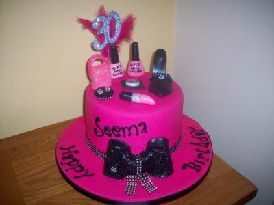 Cosmetics Bow Cake