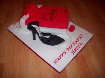 Leboutin Shoe Box Cake