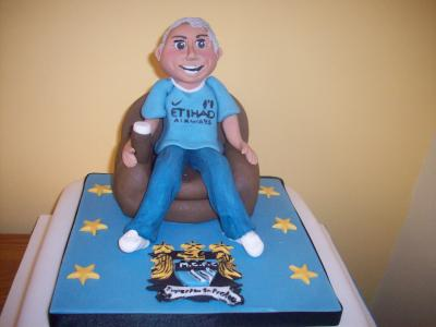 Football Fan Birthday Cake Topper