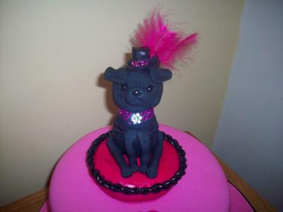 Pug Dog Birthday Cake Topper