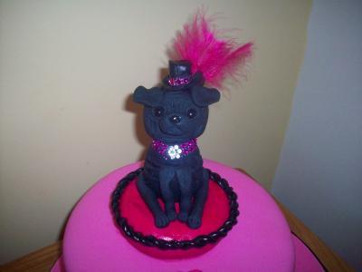 Pug Dog Birthday Cake Topper