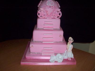 Fairy Princess Carriage Birthday Cake