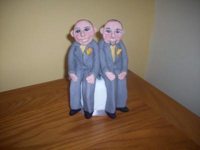 Civil Partnership Wedding Cake Topper
