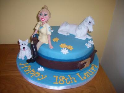 Lady Rider and Horse Cake