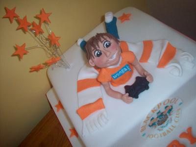 Blackpool FC Football Cake