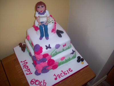 Lady Roses and Butterflies Cake
