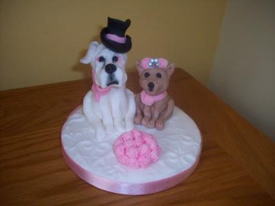 Dogs Bride and Groom Wedding Cake Topper