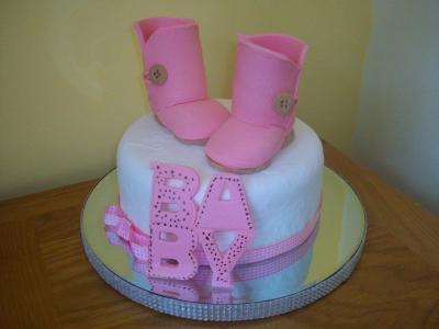 Baby Ugg Boots Cake