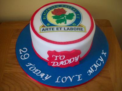 Blackburn Rovers Cake