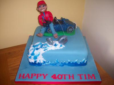 Sports Car Fishing Cake