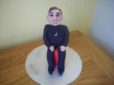 Security Guard Novelty Cake Topper