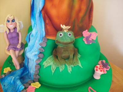 Frog Prince Fairy Birthday Cake