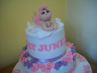 Baby Christening Cake Topper