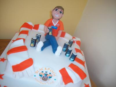 Blackpool Football Fan Cake