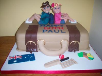 Australia Suitcase Cake