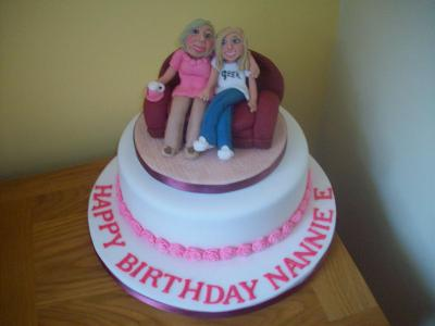 Grandma and Grandaughter Cake